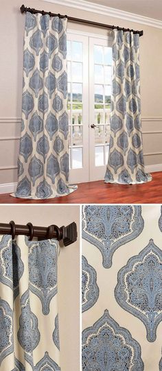Our Printed Cotton Curtains and Drapes provide a casual and refined look to any window. Choose from a wide range of patterns to suit any decorative style. These curtains are tailored from the finest 100% Cotton Twill. Great attention is given to each step of the production process. They are finished with a weighted hem and shade-enhancing lining. As a general rule, for proper fullness panels should measure 2-3 times the width of your window/opening.