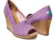 TOMS Wedges ... I was told I *need* wedges ... so purple peep toe?