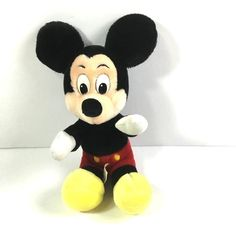 "Mickey Mouse Seated Plush Doll Classic Style 9"" Disneyland Parks Merchandise #Disney"