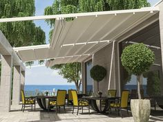 Want this for our patio in Sedge!   Wall-mounted pergola FT1 SOLO TETTO by Stil Tende di Vito Fusco