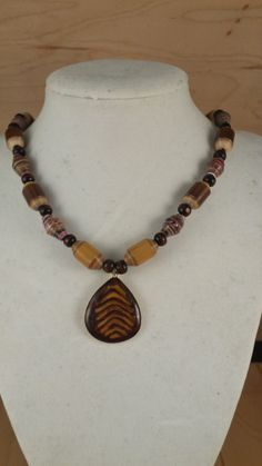 Honey Brown Multi Color Wood Paper Bead by PicturePerfectBeads, $9.99