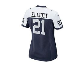 Ezekiel Elliott Dallas Cowboys Nike Women s Throwback Game Jersey – Navy  blue (Large)  Polyester Womens athletic cut Silicone screen print name f654bf672