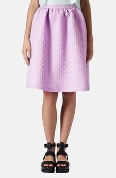 Topshop Textured A-Line Skirt available at #Nordstrom