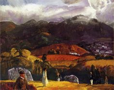 George Bellows 1917 Golf Course - California oil on canvas
