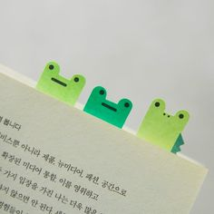 Fun little friends to pop up in the kids books this coming school year - Frog Index Sticky Note