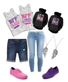 """""""Best Fraaandss"""" by princess-gurl ❤ liked on Polyvore featuring Frame Denim, Bling Jewelry, Vans, Aéropostale, women's clothing, women's fashion, women, female, woman and misses"""