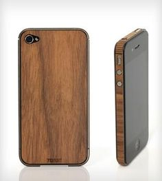 Wood iPhone Stick-On Cover