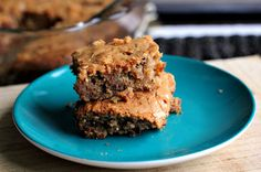 best peanut butter blondies with almonds and pb cups