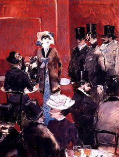 Jean-Louis Forain Title: Interieur de café, 1879