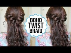 Easy Twist Braid Hairstyle | Hair Tutorial - YouTubeBraid Hairstyles, Braids, braids tutorial, braids for short hair, braids for short hair tutorial, braids for long hair, braids for long hair tutorials...