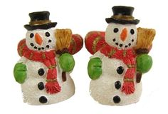 "$54.99-$144.99 Club Pack of 288 Snowman Candle Rings Item #18406  Candle rings feature finely detailed snowman holding a broom Red and gold striped rings fit over a taper candle  Dimensions:  Snowman: 1.375""H Interior diameter of candle ring: .75"" Material(s): synthetic  Pack includes 288 of the candle ring shown"