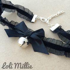 Kitty Bell Chokers - Kawaii Hime Gyaru Sweet Gothic Lolita Choker Bow Necklace
