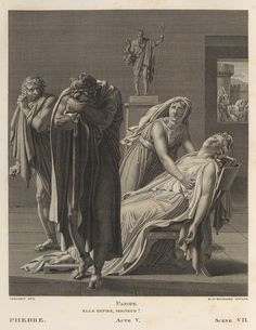 Volume 1: Illustration to Phaedra, Act 5, 1801 Designer: Anne-Louis Girodet-Trioson (French, 1767–1810) Engraver: Raphael Urbain Massard