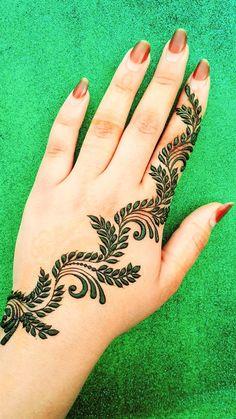 Mehndi Decor, Mehndi Art, Henna Mehndi, Henna Finger Tattoo, Finger Tattoos, Easy Henna, Simple Henna, Henna Tattoo Designs, Mehndi Designs