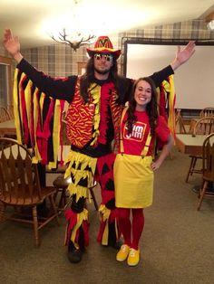 Homemade Macho man and slim Jim Halloween costumes