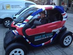An electric car. Twizy by Renault.