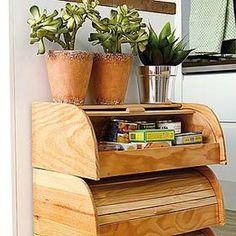 Reinventa las paneras en un mueble auxiliar