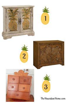 Pineapple Cabinets - The Hawaiian Home