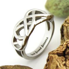 """Friends Infinity Ring, Promise Ring Double Infinity Symbol Ring """"Best Friend Forever"""" Engraved on Inside Best Gift for Friend"""