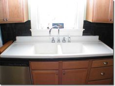 I've wanted a sink like this since I was a child. To me it makes a kitchen homey.