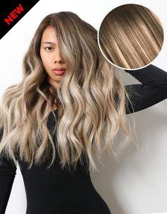 Balayage 160g 20 Hair Extensions 2 Dark Brown 18 Dirty Blonde