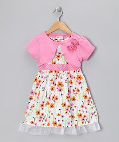 Take a look at this Pink & Orange Poppy Dress & Shrug - Infant, Toddler & Girls by Longstreet on #zulily today!