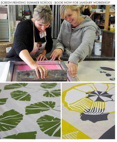 Creating multi-colour placement prints and repeat patterns #silkscreen #rapport #powerfull
