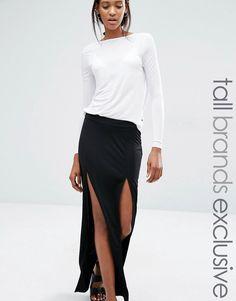 Noisy+May+Tall+Maxi+Skirt+With+High+Thigh+Splits