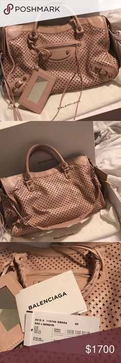 Rare limited edition Balenciaga City Brand new limited edition 2015 perforated Balenciaga city in blush. 100% authentic. Tags included. Only used a few times. Balenciaga Bags Satchels