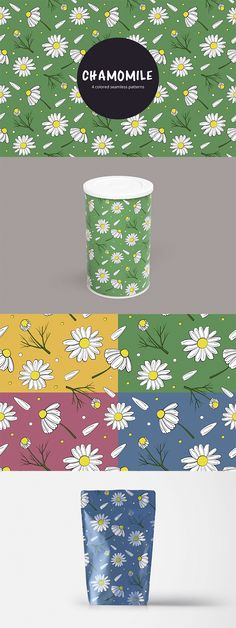 We publish a useful set - Chamomile Vector Free Pattern. This is a thematic seamless pattern in 4 colors. You can create designs of various things using Free Vector Patterns, Vector Free, Free Pattern, Presents, Create, Color, Design, Colour, Gifts