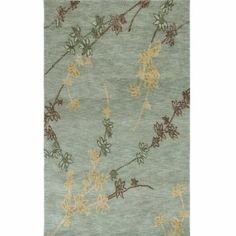 Amazon.com: Jaipur Rugs Inc Hand Tufted, New Leaf Light Blue/Light Blue, 2 by 3: Home & Kitchen