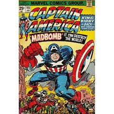 b78227067e4 24x36 Captain America Marvel Comics Poster   Find out more about the great  product at the