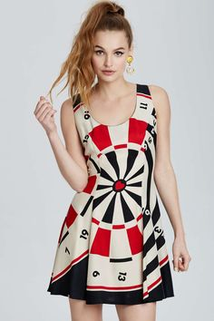 Vintage Moschino Roma Fit-and-Flare Dress