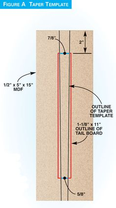 Tapered Sliding Dovetail jigs make cutting dovetails easy!