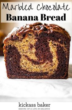 This recipe is deceivingly easy to put together and makes for a delectable change of pace from your standard banana bread. This Chocolate Banana Bread is moist and well-balanced between the chocolate and the sweetness of the overripe bananas. | kickassbaker.com #bananabread #chocolatebanana #quickbread #easyrecipe #chocolatechips #bestrecipe