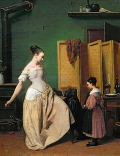 Woman at her Toilet, 1835 (oil on canvas) Artist: Wachsmuth, Ferdinand (1802-69) Nationality: French Location: Musee des Beaux-Arts, Mulhouse, France