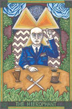 Twin Peaks Tarot Major Briggs postcard PRINT. £1.79, via Etsy.