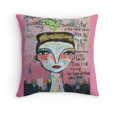 I always wonder by artbythelma Throw Pillow e1c81f85f2ee7