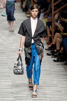 Missoni | Milão | Verão 2014 RTW- dtalhe da textura do casaco e combinação de cores.
