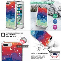TOTORO CATS Colorful Slim Thin Shockproof Case Cover Holder For iPHONE 7/8 PLUS | eBay