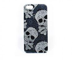 Iphone 5 hard cover fashion skull Kleur zwart-blauw Materiaal kunststof Afmeting 12,5 cm, 6 cm