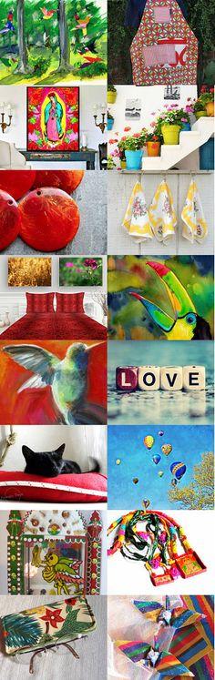 Brave: Joyful Birds by Korinne on Etsy--Pinned+with+TreasuryPin.com