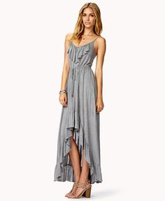Ruffled Jersey Knit High-Low Dress | FOREVER 21 - 2049256952