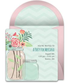 Don't miss this collection of FREE bridal shower invitations. We love this beautiful mason jar design for a bridal shower, engagement party, wedding, and more.