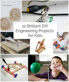 12 Brilliant Engineering Projects for Kids. Lots of fun STEM activities for kids.