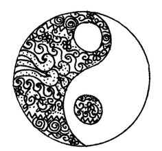 Art black and white banner yang hand-drawn yingyang ying yin Yen Yang, Ying Y Yang, Drawing Sketches, Art Drawings, Drawing Ideas, Drawing Art, Foto Logo, Tumblr Pattern, Yin Yang Tattoos
