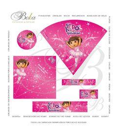 Paquetes Candy bar #etiquetas personalizadas #etiqueas #diy candybar Haz tu propia candybar #personaliza #personajes #dora #dorabailarina #bailarina #dora exploradora #cumpleaños #birthdayparty www.bo-kasociales.com