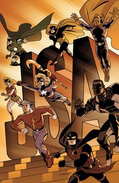 Justice Society of America #54 cover by Darwyn Cooke