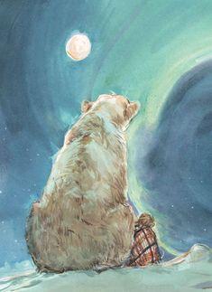 Polar bear for Alex - illustration - Animals Art And Illustration, Illustrations, Polar Bear Illustration, Fantasy Kunst, Fantasy Art, His Dark Materials, Wow Art, Bear Art, Whimsical Art