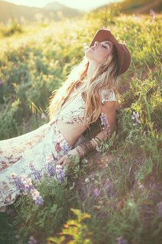 Boho Look | Bohemian festival style hippie chic bohème vibe gypsy fashion indie folk the 70s